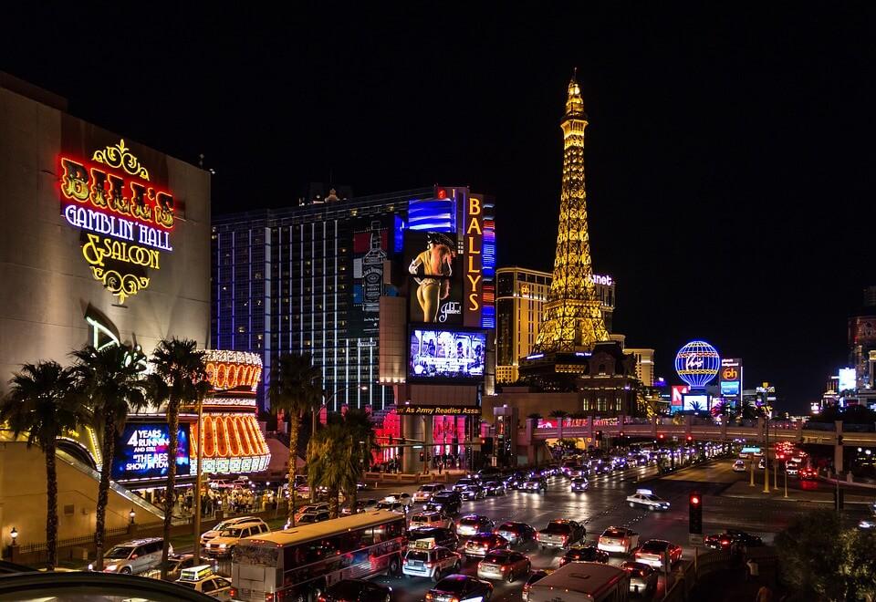 カジノの代名詞、ラスベガスの夜景。