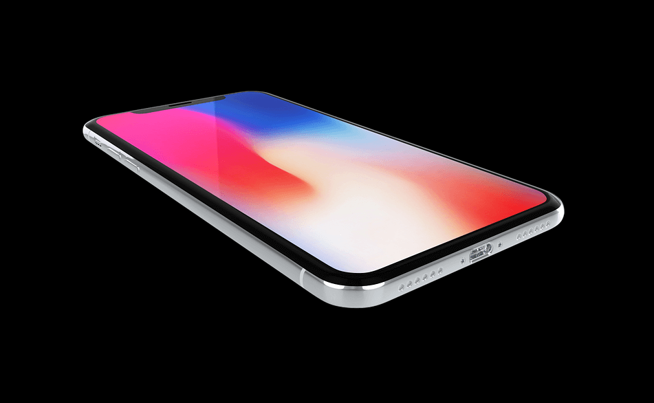 iPhone Xの単体画像。