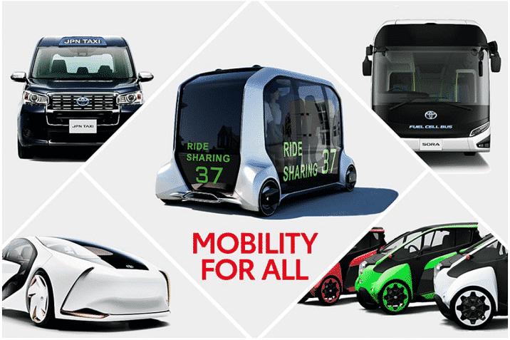 2020年東京オリンピックに向け発表されたトヨタ自動車のモビリティソリューションの画像