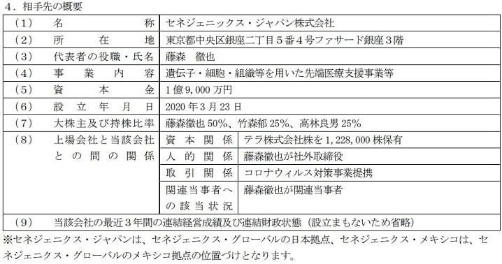 CENEGENICS JAPAN株式会社(セネジェニックス・ジャパン)の概要の画像