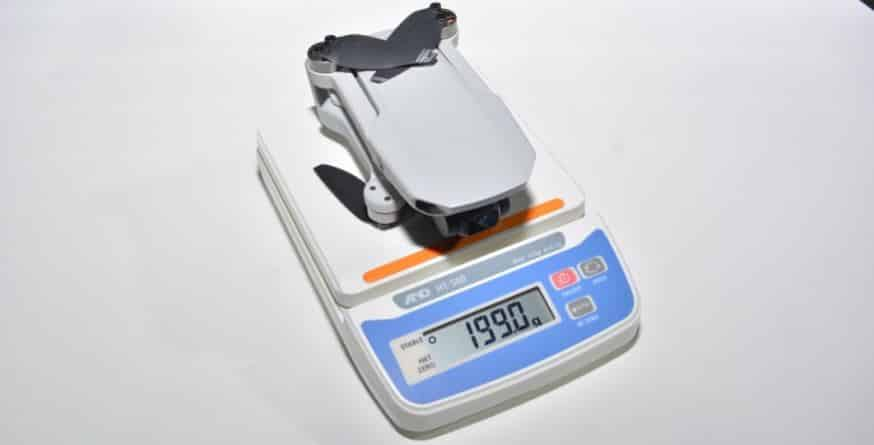 DJI社の小型ドローンmavicmini(マビックミニ)の重さの画像